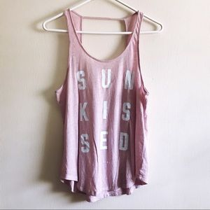 VS PINK Sunkissed Open Back Tank Sz M C84